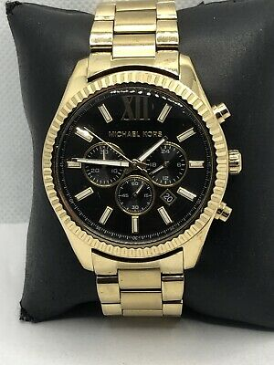 Michael Kors MK8286 Men's Stainless Steel Analog Black Dial Quartz Watch HK559