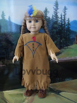 "Lovvbugg Handpainted Native American Indian Costume for 18"" American Girl Doll Clothes"