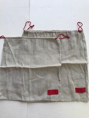 New authentic set of 2 Valentino Cover dust bag linen