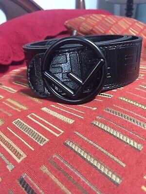 Fendi Black 36 Designer Belt BlackBuckle Men Unisex