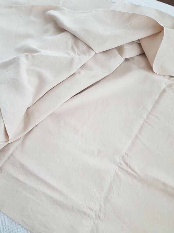 VINTAGE FRENCH HEAVY LINEN METIS FABRIC UPHOLSTERY MATERIAL 240 x 280 cms