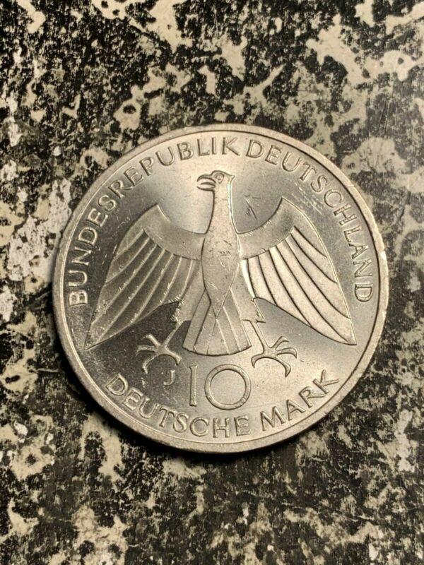 1972-J West Germany 10 Mark Lot#Q8413 Silver! High Grade! Beautiful!