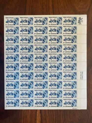 #1406 - 6¢ Woman Suffrage Issue, MNH Sheet of 50 FV $3.00