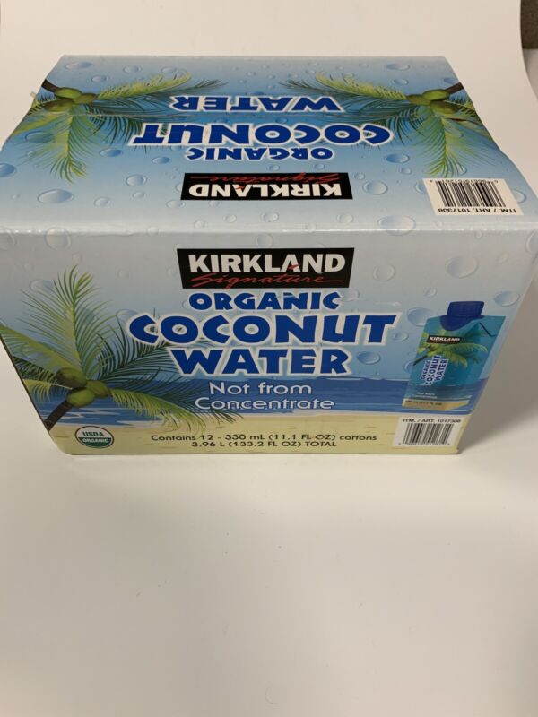 Kirkland Organic Coconut Water 12 Pack - 11.1 oz cartons Not from Concentrate