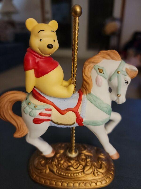 New England Collector's Society POOH Carousel Horse Figure NIB