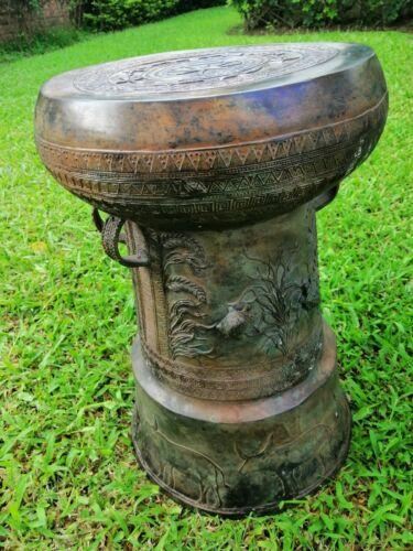 Beautiful Asian Bronze Rain Drum - FREE Shipping