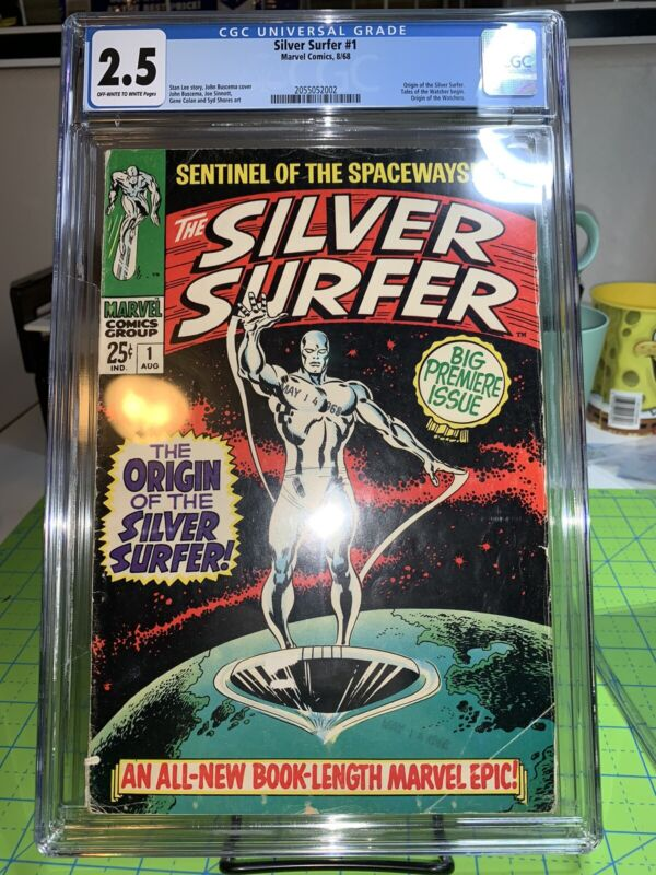 1968 SILVER SURFER ISSUE #1 COMIC BOOK CGC 2.5 GD+ MARVEL COMICS STAN LEE