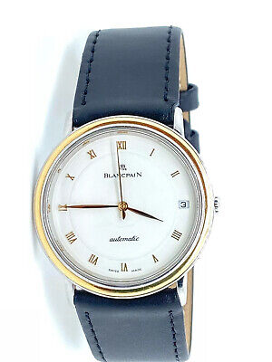 BLANCPAIN Villeret 18K & SS White Dial Automatic Men's Watch Serviced