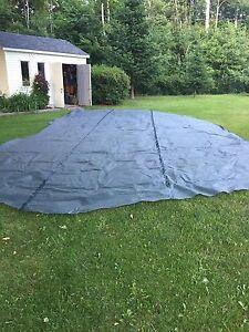 Toile solaire piscine creusée
