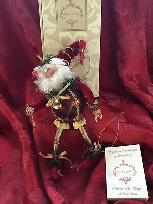 Santa Fairy Ornament - MIB FLAWLESS MARK ROBERTS SANTA CLAUS FAIRY Figurine LTD EDITION #409 ORNAMENT