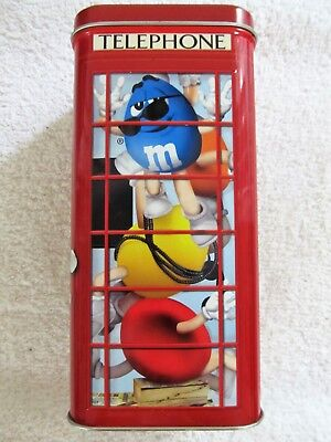 2002 M&M Characters M&M Brand Phone Booth #14 Limited Edition Canister