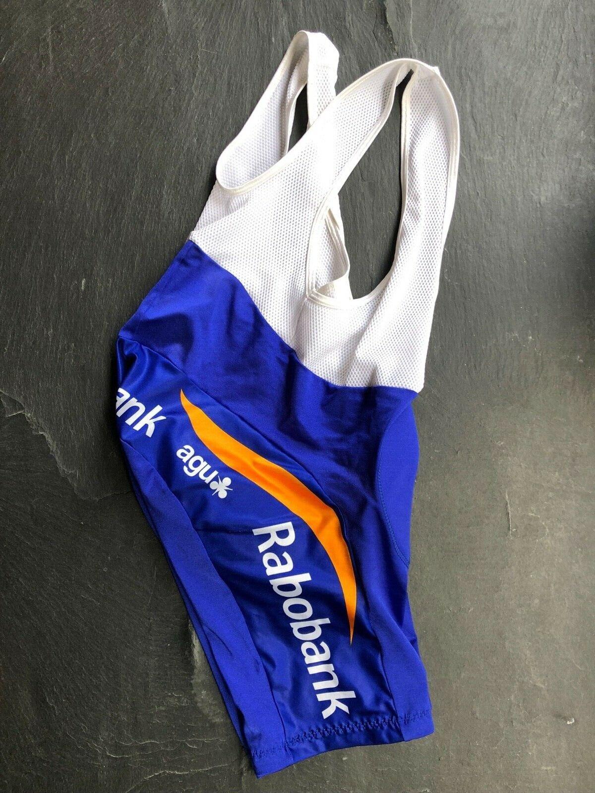 Rennrad Herren-Radierhose gepolstert Trägerhose Team Rabobank NEU Gr. 2 / S