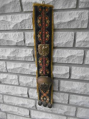 Großer,alter Wandteppich/Schärpe  mit 4 Glocken und Emblem Adler-TOP Zustand