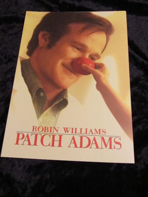 Patch Adams british fold out synopsis/press book - Robin Williams