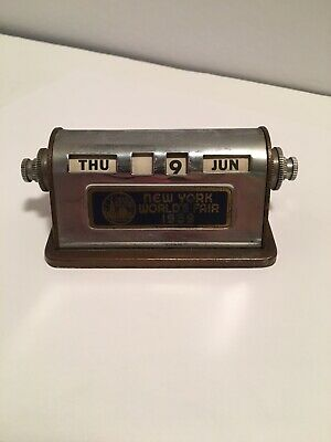 Vintage 1939 New York Worlds Fair Desk Calander