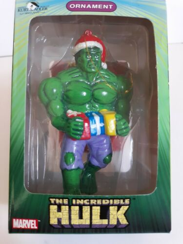 Incredible Hulk Christmas Ornament with packages Kurt Adler...new 2003