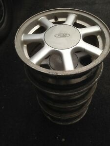 "Set of 4 Ford 15"" Alloy Rims, 4-bolt"