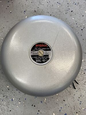 Vintage 10 Used Gray Fire Bell Amseco Mbl-10 6 Vdc