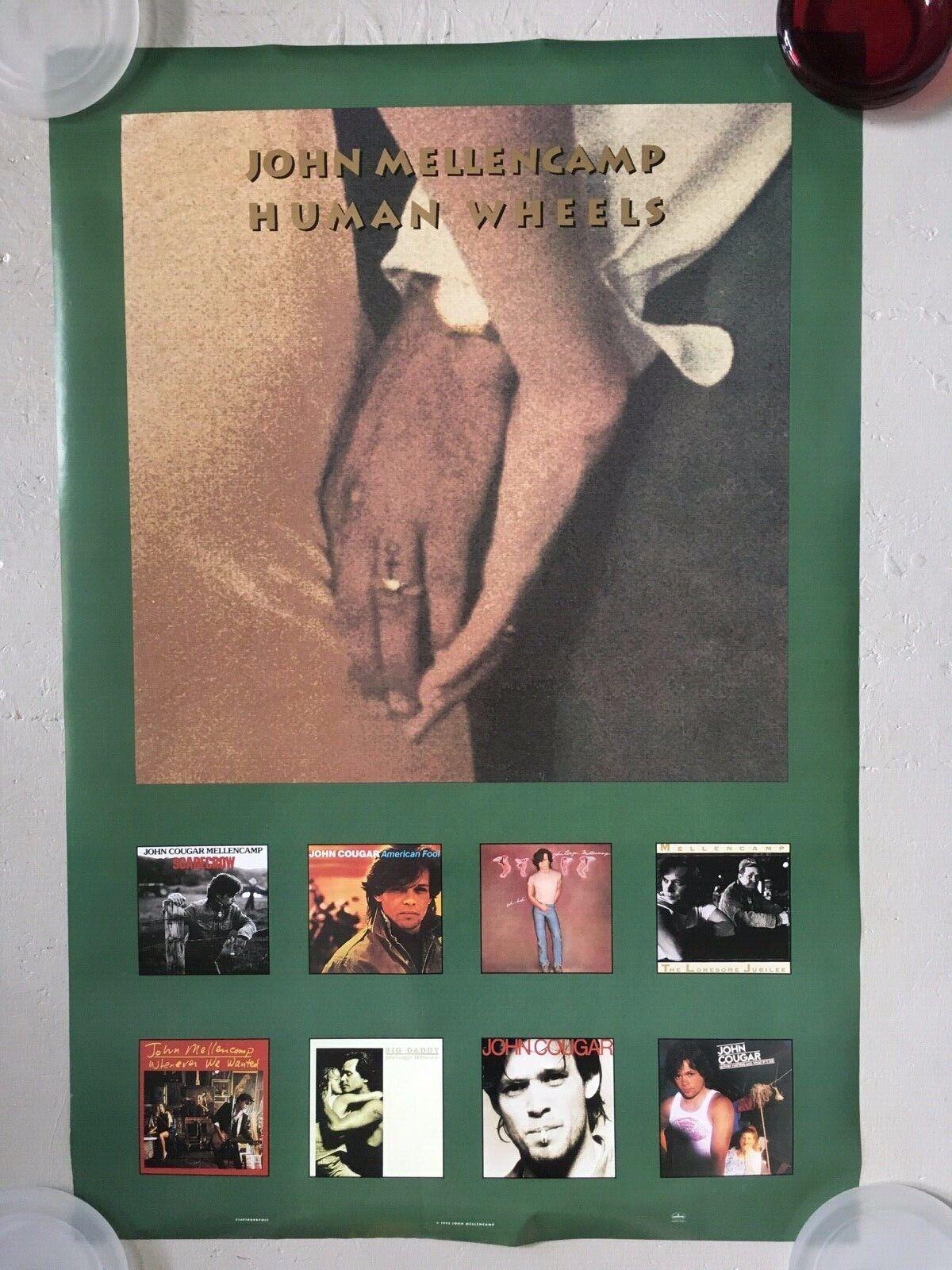JOHN MELLENCAMP - Human Wheels - 1993 - 2x Sided Promo Poster - 24x36 - USA NEW - $7.99