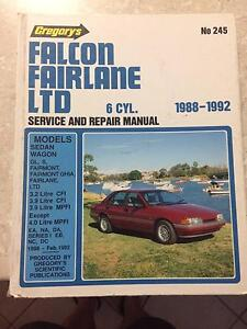Workshop manual Gregorys No 245 -  Falcon.Fairlane 1988 - 1992 Hillbank Playford Area Preview