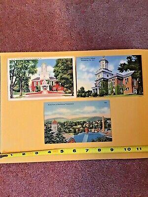 Vintage Bloomsburg State Teachers College 1cent unused three cards.