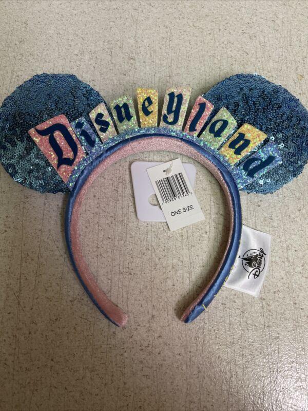 Disneyland Marquee Logo Ear Headband Hat-Happiest Place On Earth NEW!!!