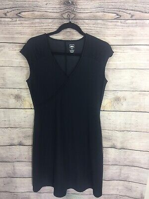 REI Black Cap Sleeve Knit Fit and Flare Dress - Size S