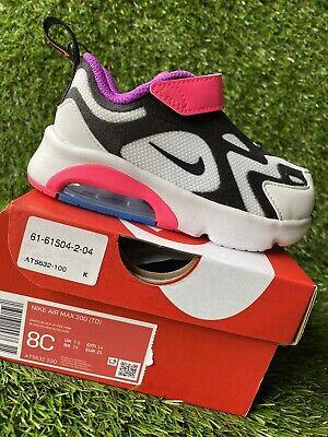 TODDLER GIRLS: Nike Air Max 200 Shoes, Hyper Pink - Size 8C AT5632-100