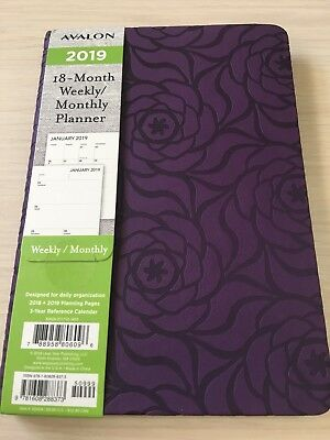 2019 Avalon 18-month Weeklymonthly Calendar Planner Appointment Book Purpl