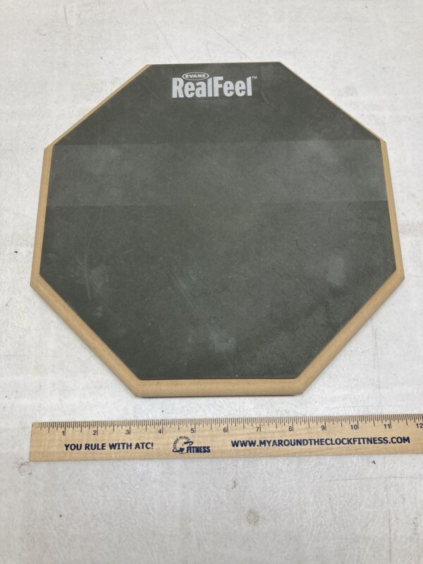 """Evans RealFeel 12"""" Double Sided Practice Drum Pad, Excellent Condition"""