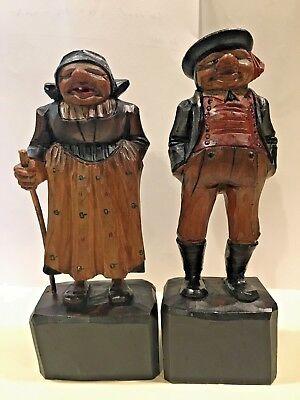 Vintage Handcarved Wooden Italian Stable Keeper Figurine Set ()