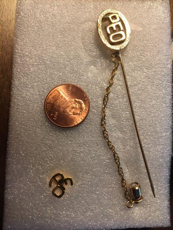 PEO Sisterhood P.E.O. Two Pieces Of Jewelry