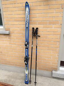 Dynaster skis and poles