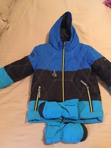 Boy Obermeyer size 5 snowsuit Free pants and 2 hats and mitts