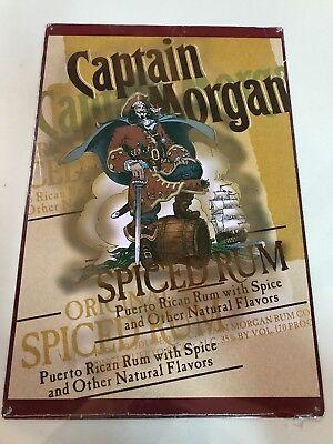 """Metal Captain Morgan Spiced Rum Sign Tin 12""""x18"""""""