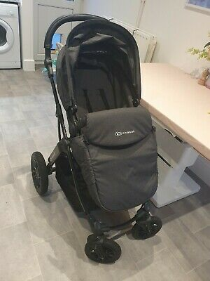 Kinderkraft MOOV Pram 3 in 1 Travel System Baby Pushchair Buggy - Black RRP £229