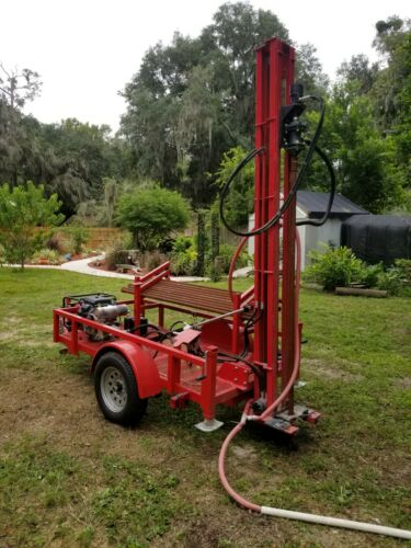 Water Well Drilling Machine Geothermal Drill Rig Pump Driller - Barely Used