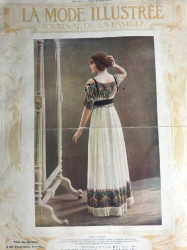 Edwardian MODE ILLUSTREE Feb 4,1912+ sewing PATTERN - Dresses, Mantelet