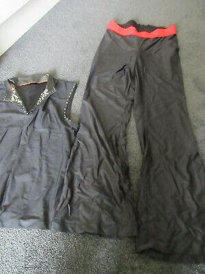 2 teiliges Kostüm Herren schwarz/rot Unikat Schneiderarbeit (Größe 46? s- - Schneide Kostüm