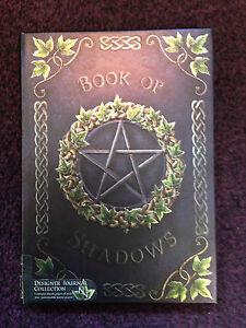 Embossed Purple Ivy Book of Shadows Pentagram Blank Journal Diary Pagan Wiccan