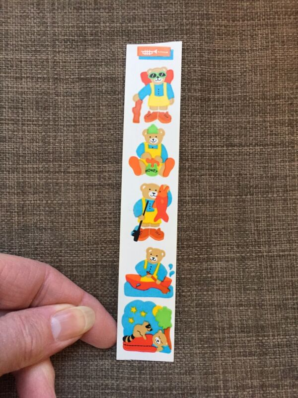 Rare Vintage Stickers - Cardesign -Toots Camping Bear 1984