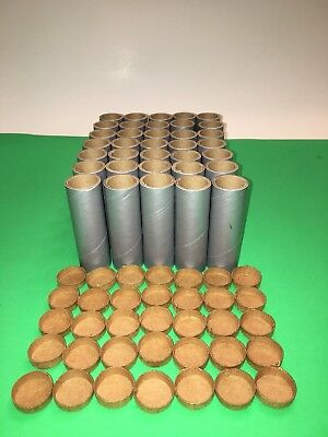 """35 NEW Spiral 3 1/2""""x1""""x1/8"""" Fireworks Silver PYRO Cardboard Tubes W/End Plugs !, used for sale  Daly City"""
