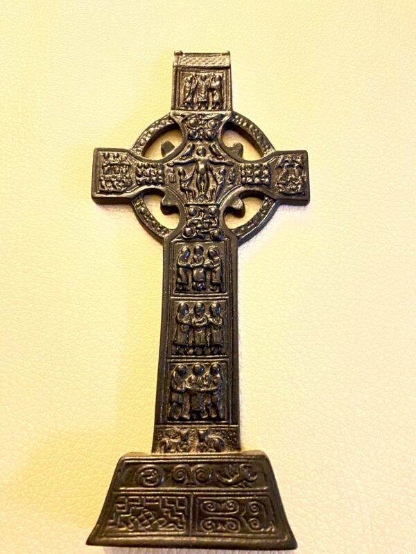"8"" Tall Replica 7th Century Irish Celtic Cross Plaque"