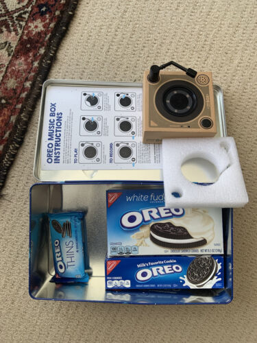 OREO MUSIC BOX Cookie Record Player Collectible Holiday Gift Tin NEW IN BOX - $74.99
