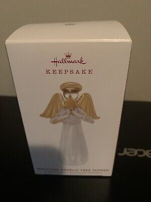 Hallmark 2019 Miniature Angelic Tree Topper Glass Angel Christmas Ornament