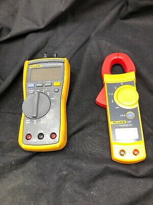 Fluke 117 Flukemeter 322 Clamp Meter Multimeter Set 5689