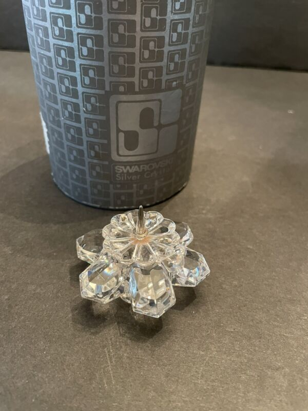 SWAROVSKI 101 Snowflake Candleholder's Pin Style 010090 Box