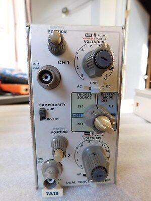 Tektronix 7a18 Dual Trace Amplifier Plug In