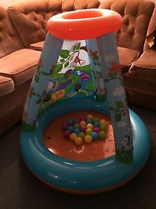 Kids blow up ball house with balls
