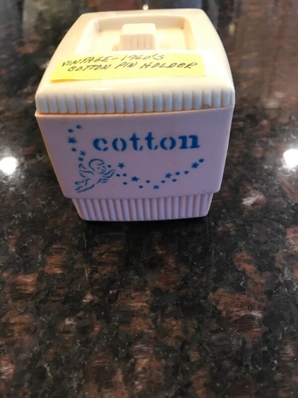 Vintage 1960S Cotton Pin Holder Plastic